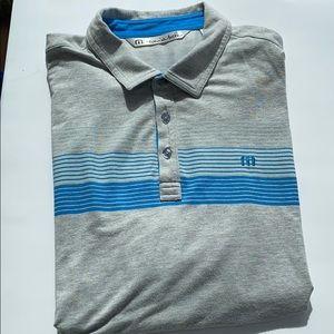 Travis Mathew Xl short sleeve men's golf polo grey